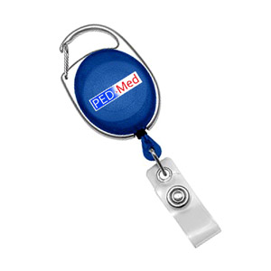 Blue Translucent Carabiner Badge Reel