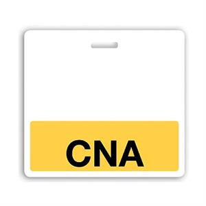 "Horizontal Yellow ""CNA"" Badge Buddy"