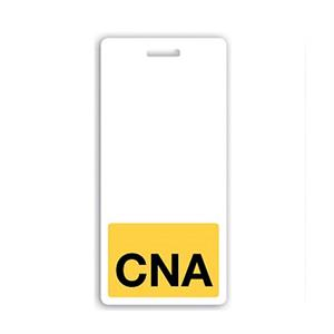 "Vertical Yellow ""CNA"" Badge Buddy"