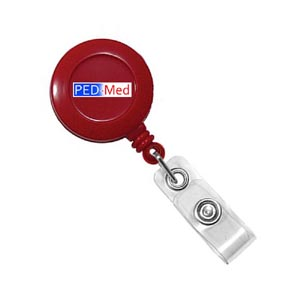 Red Round Badge Reel