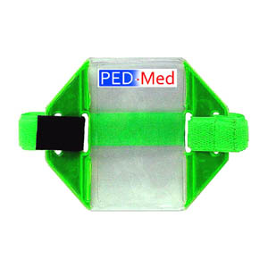 Hook & Looped Reflective Armband ID Pass Holder